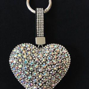 NEW!! ADORABLE Rhinestones Heart Keychain!!